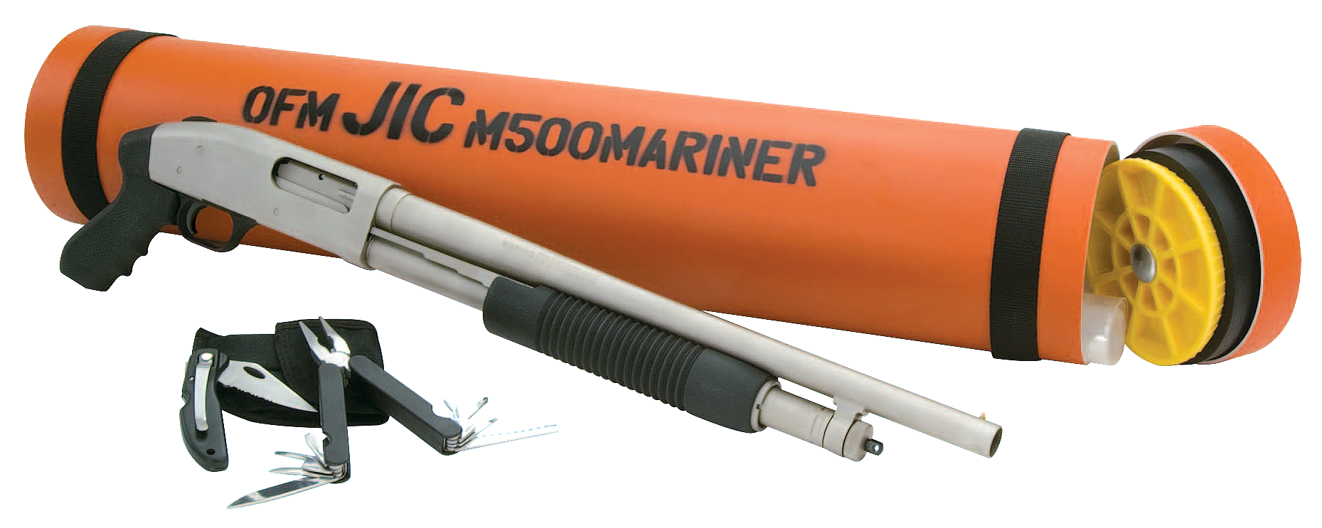 a mossberg 500 mariner shotgun with a water resistant tube
