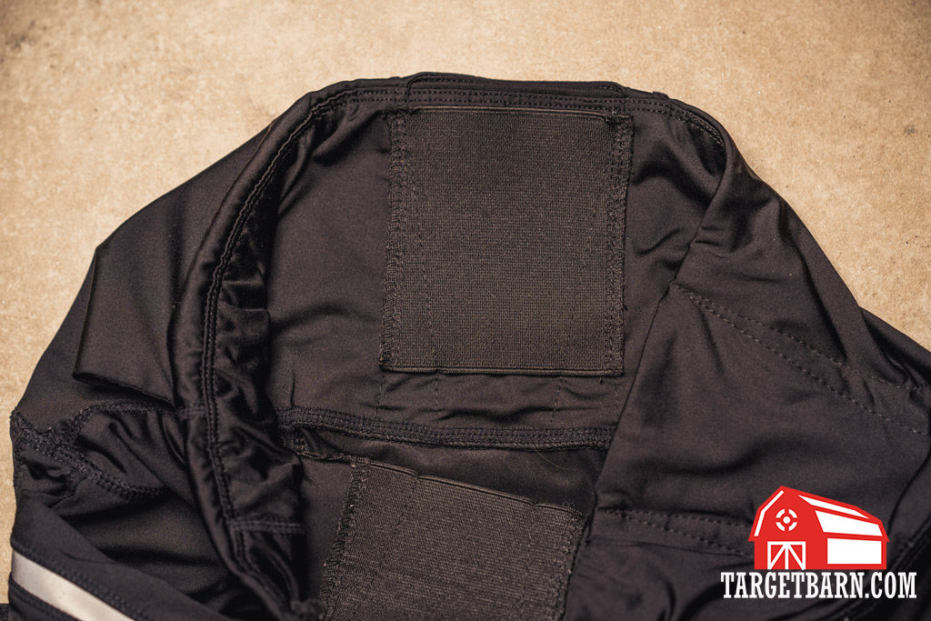 view of the Alexo Athletica The Signature Pant concealed carry leggings holster from the inside of the leggings
