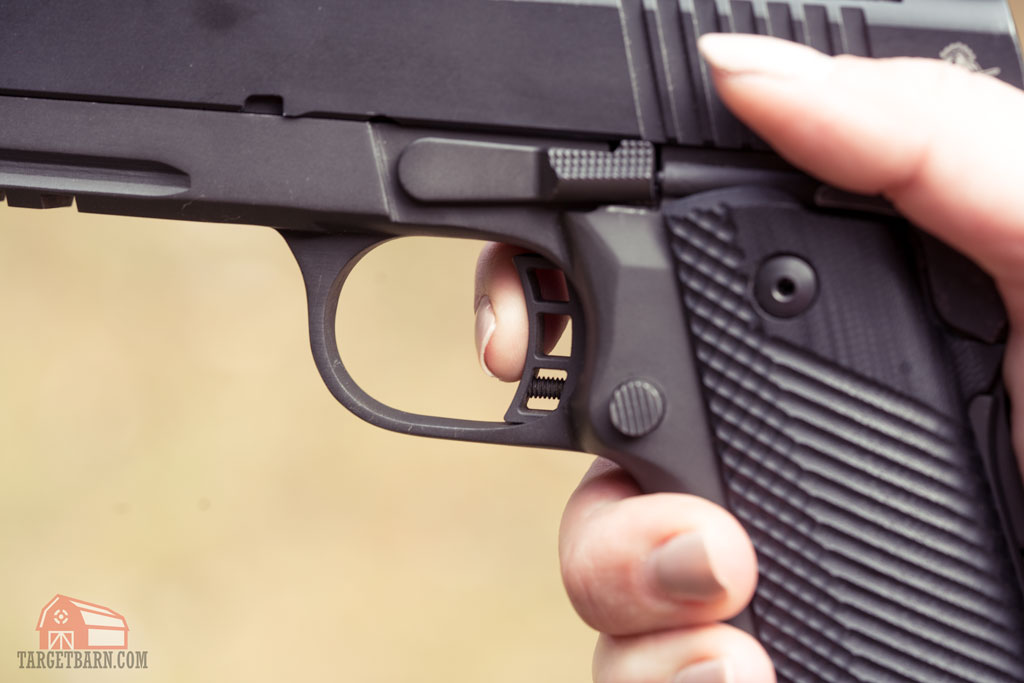 using the tip of the finger to shoot a single action pistol