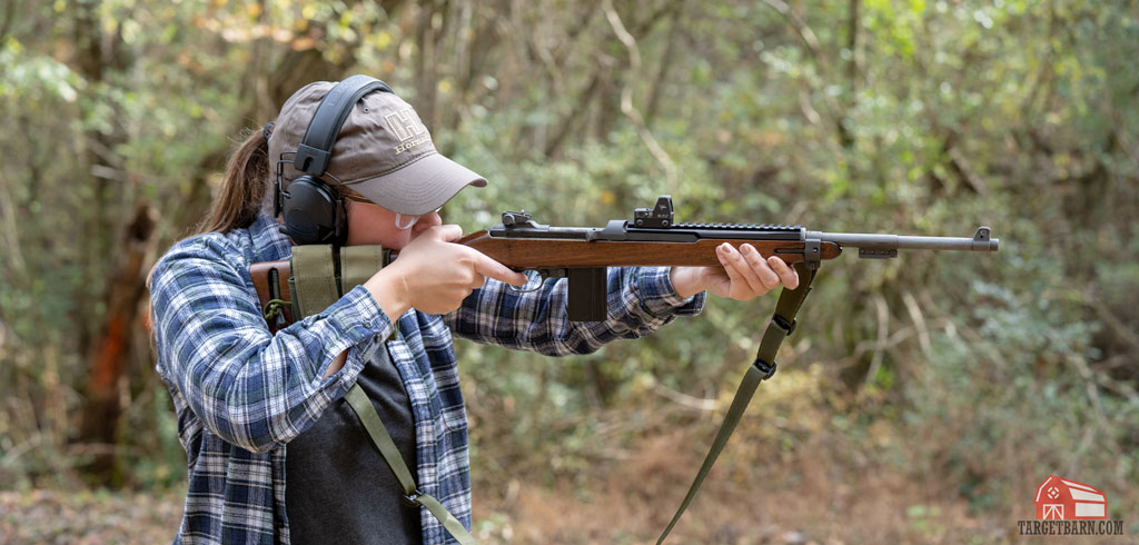 McKenzie shooting the m1 carbine