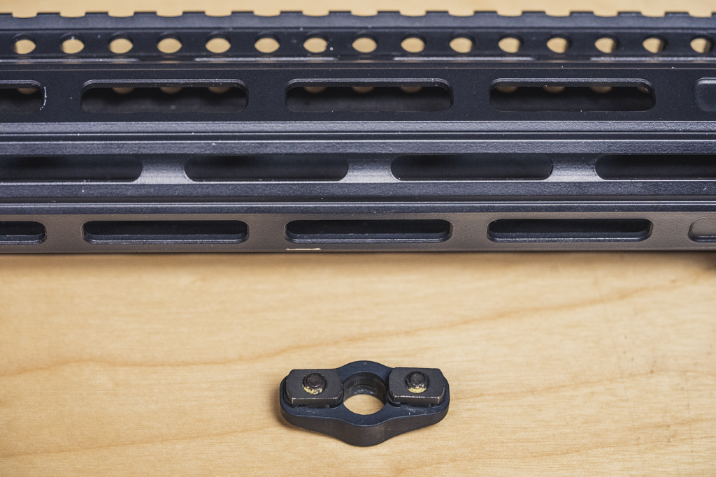 showing MLOK accessory and rail orientation