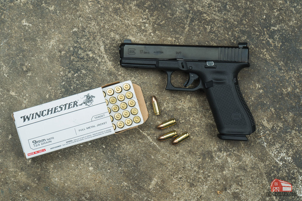 g17 gen 5 and a box of winchester 9mm ammo