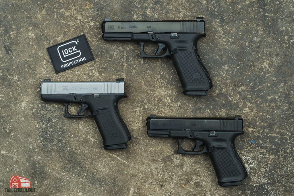 the g17 gen 5, g19 gen 5, and g43x are current offerings from glock