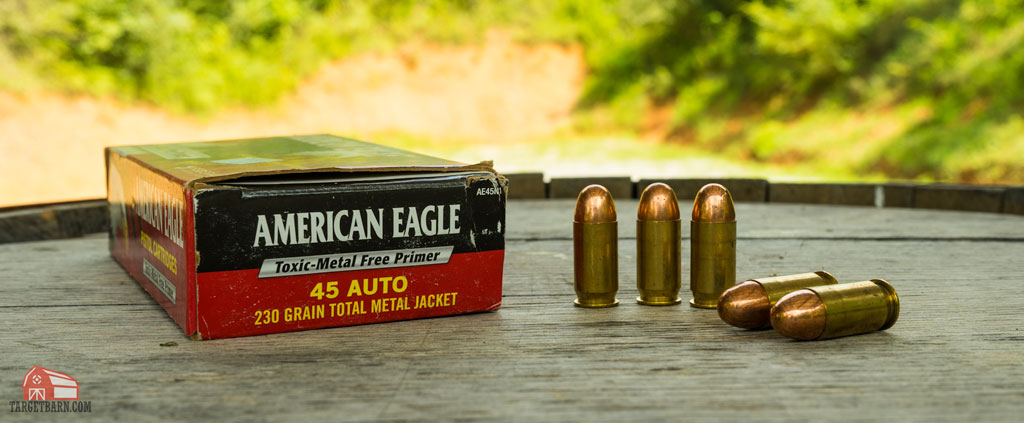 american eagle 45 ACP tmj ammo with toxic-metal free primer
