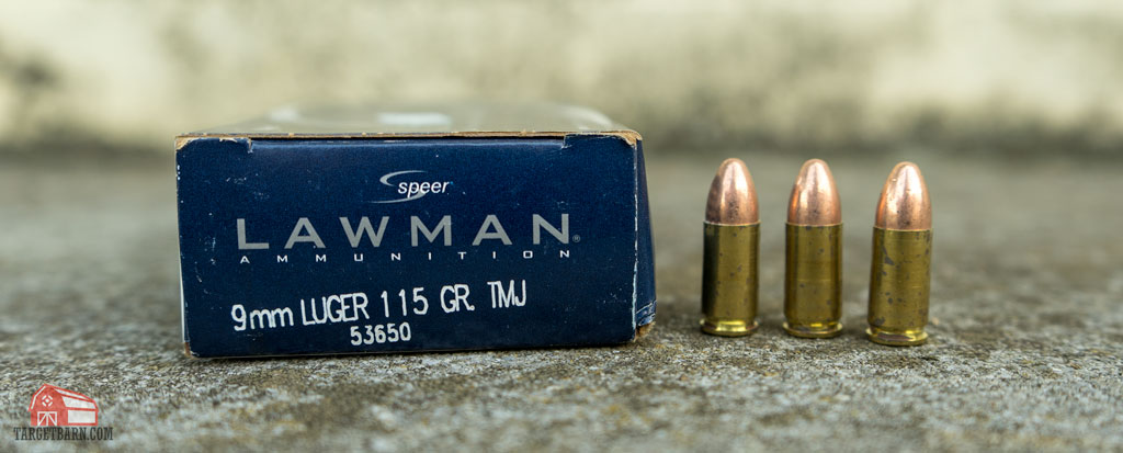 9mm speer lawman tmj ammo and box