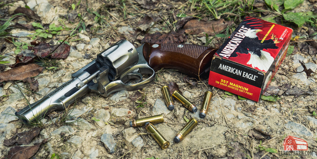 a ruger .357 magnum revolver with american eagle ammo is a good choice for many backpackers