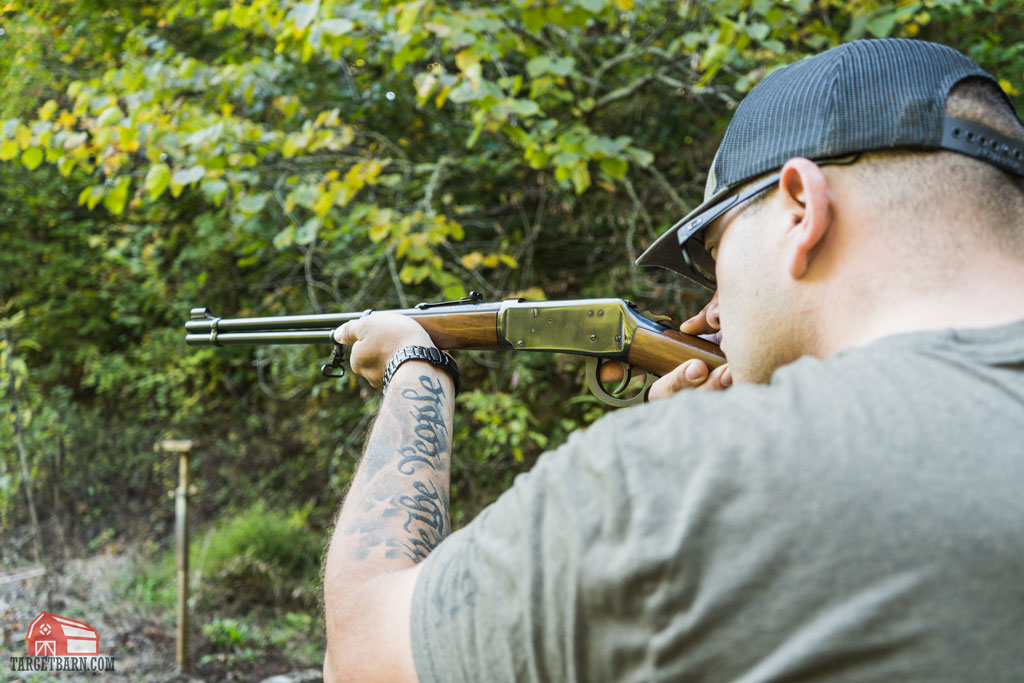 jeremiah shooting a lever action with soft point bullets