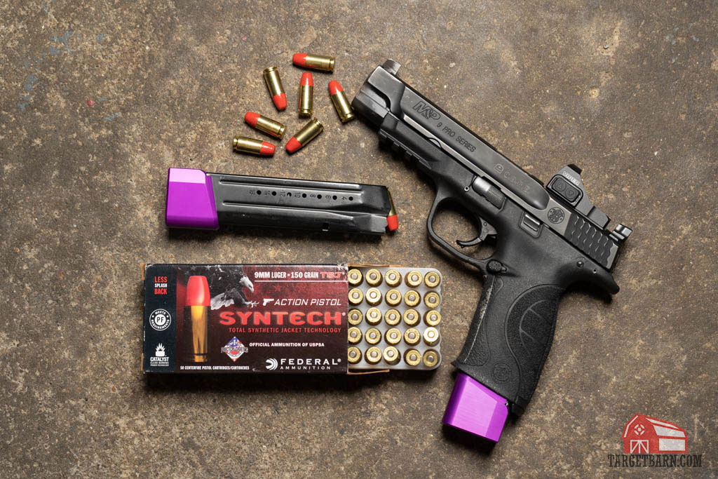 a uspsa carry optics pistol with federal syntech ammo
