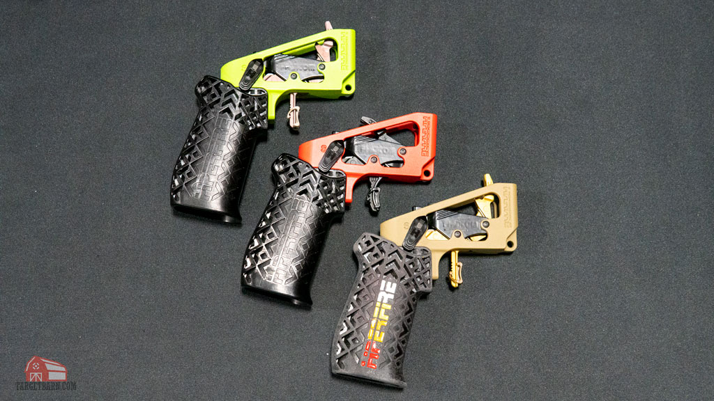 three different versions of the new hiperfire pdi drop-in trigger