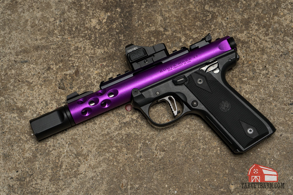 a ruger rimfire pistol that has been optimized for competition