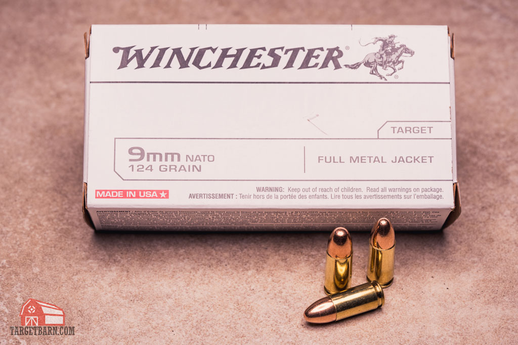 a box of 9mm winchester ammo