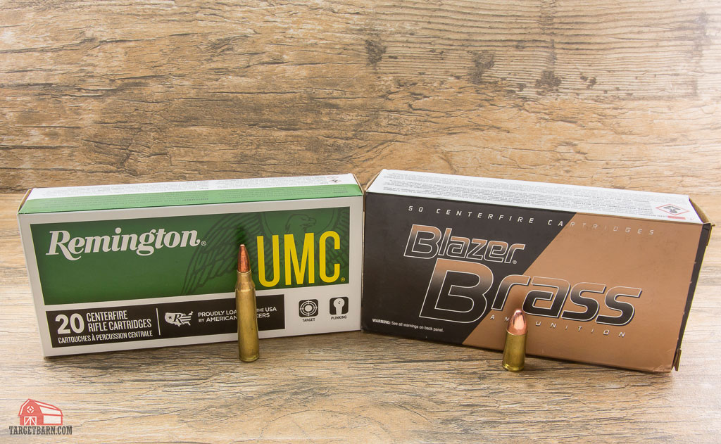 remington .223 ammo and blazer brass 9mm ammo are both centerfire rounds