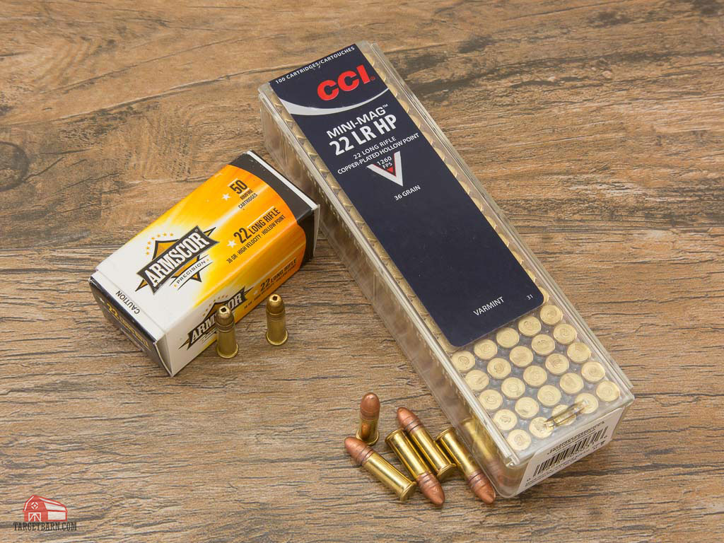 armscor and cci 22lr rimfire ammo