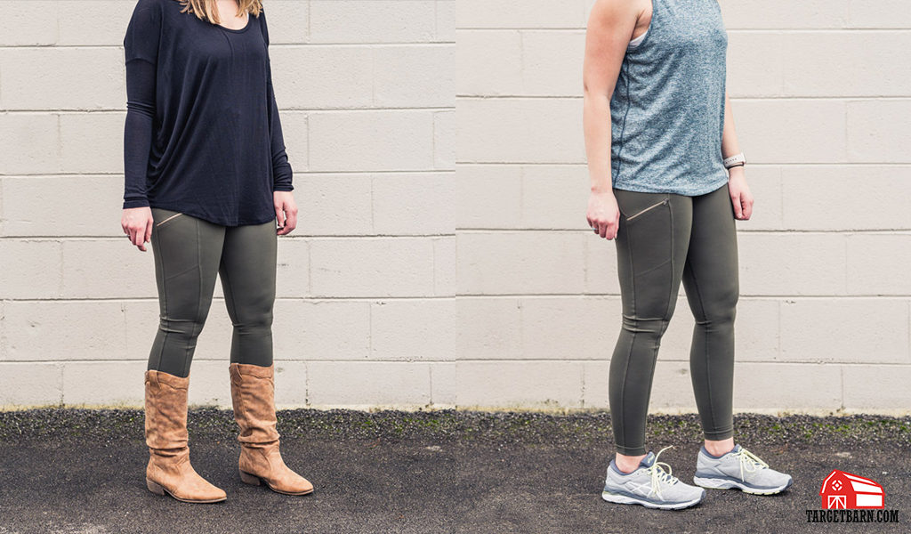 the Undertech Undercover concealed carry zip pocket leggings styled with everyday and athletic clothing