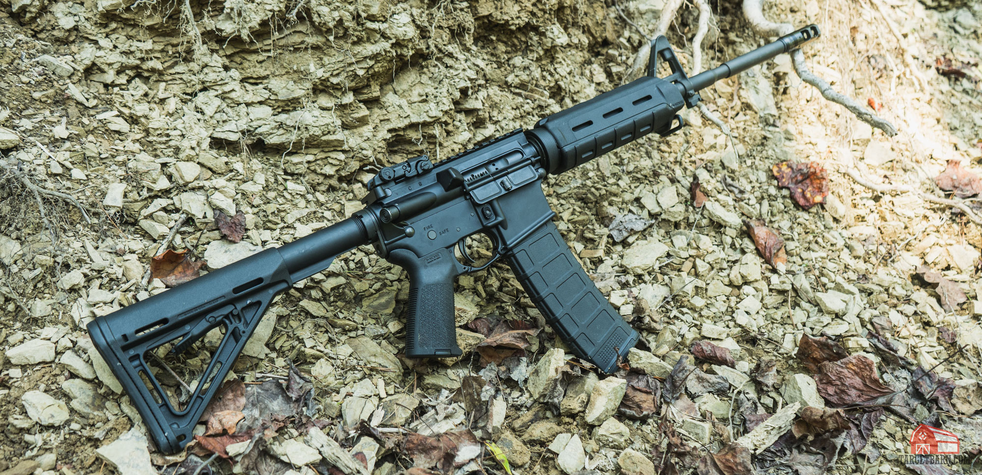 an ar15 which uses direct impingement