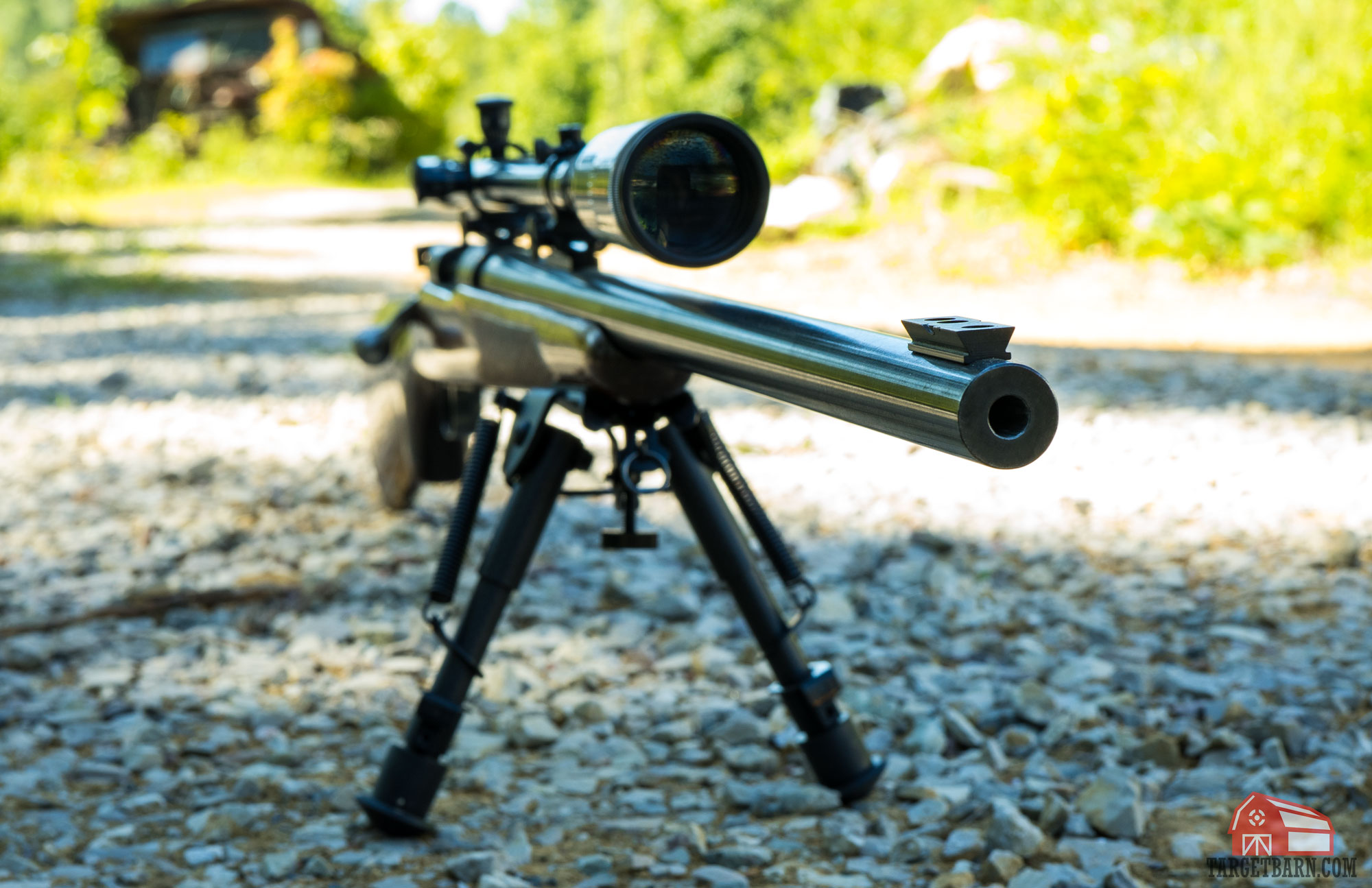 a bull barrel on a hunting rifle helps resist vibration, reduces recoil, and is more accurate