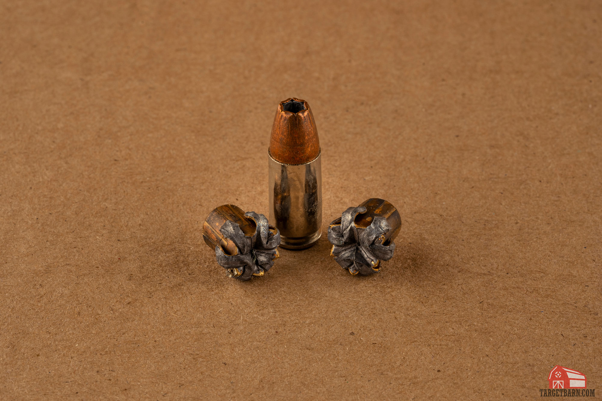 expanded 9mm hollow point bullets