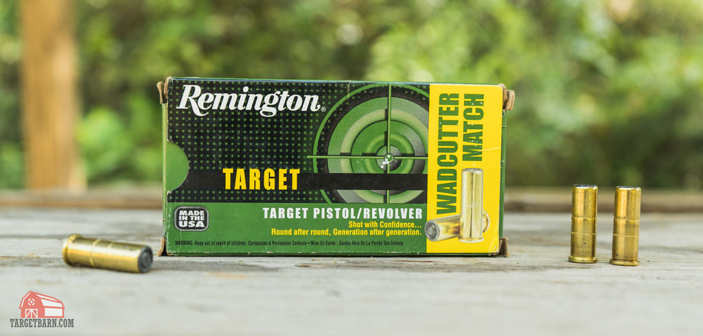 a box of remington 38SP wadcutter match ammo