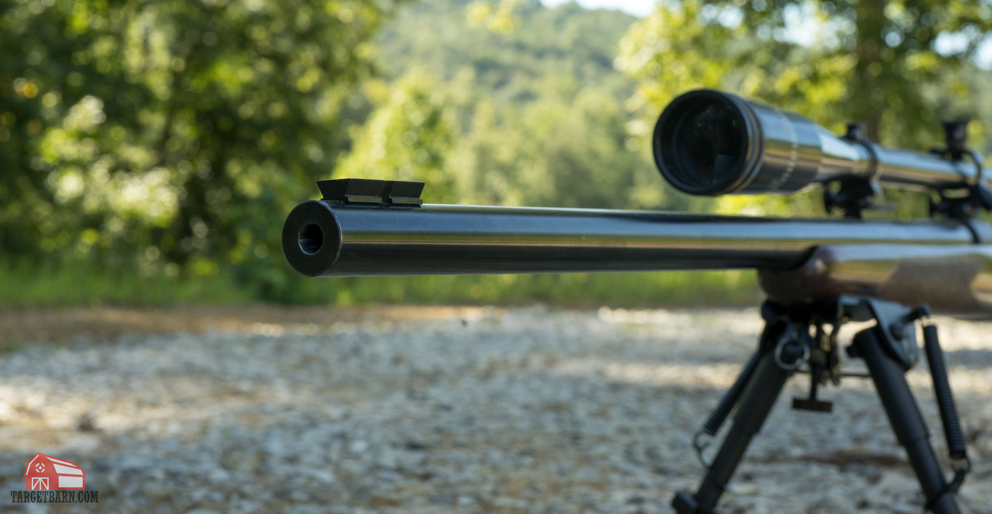 a rifle bull barrel that is heavier and thicker in diameter than the original design