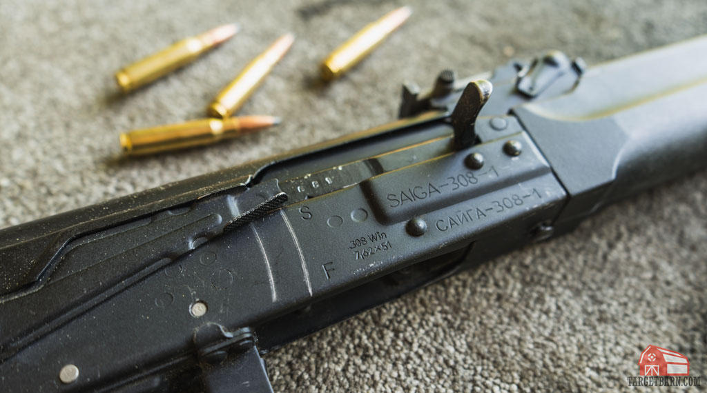 a saiga 308 stamped with .308 win and 7.62x51