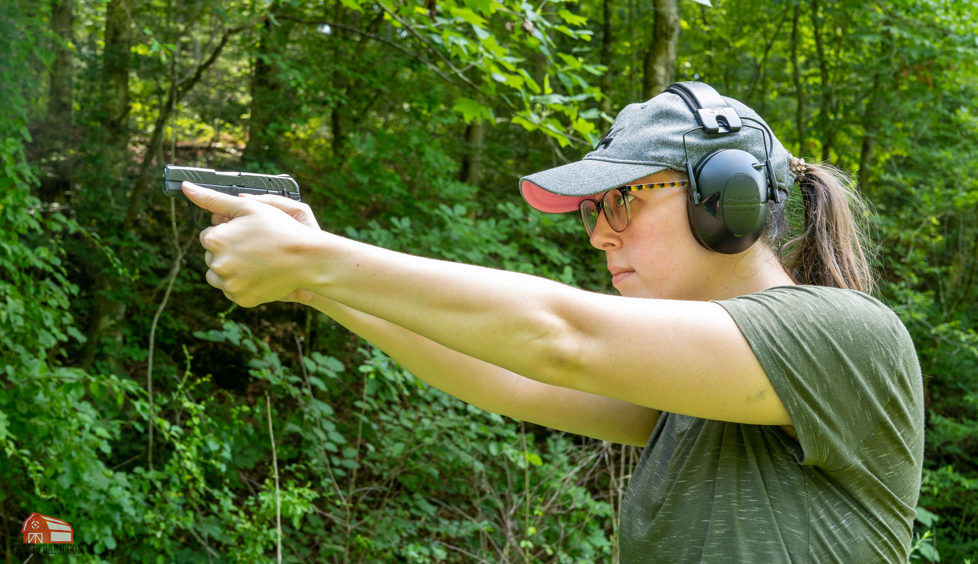 mckenzie shooting a ruger lcp 2