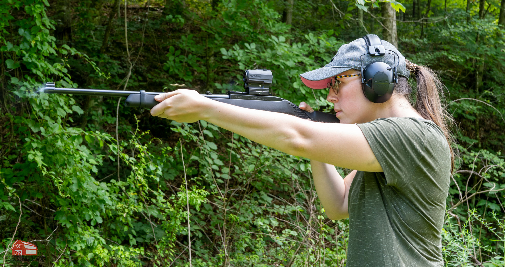a light rifle like the ruger 10/22 is the best choice for using 22lr for self defense