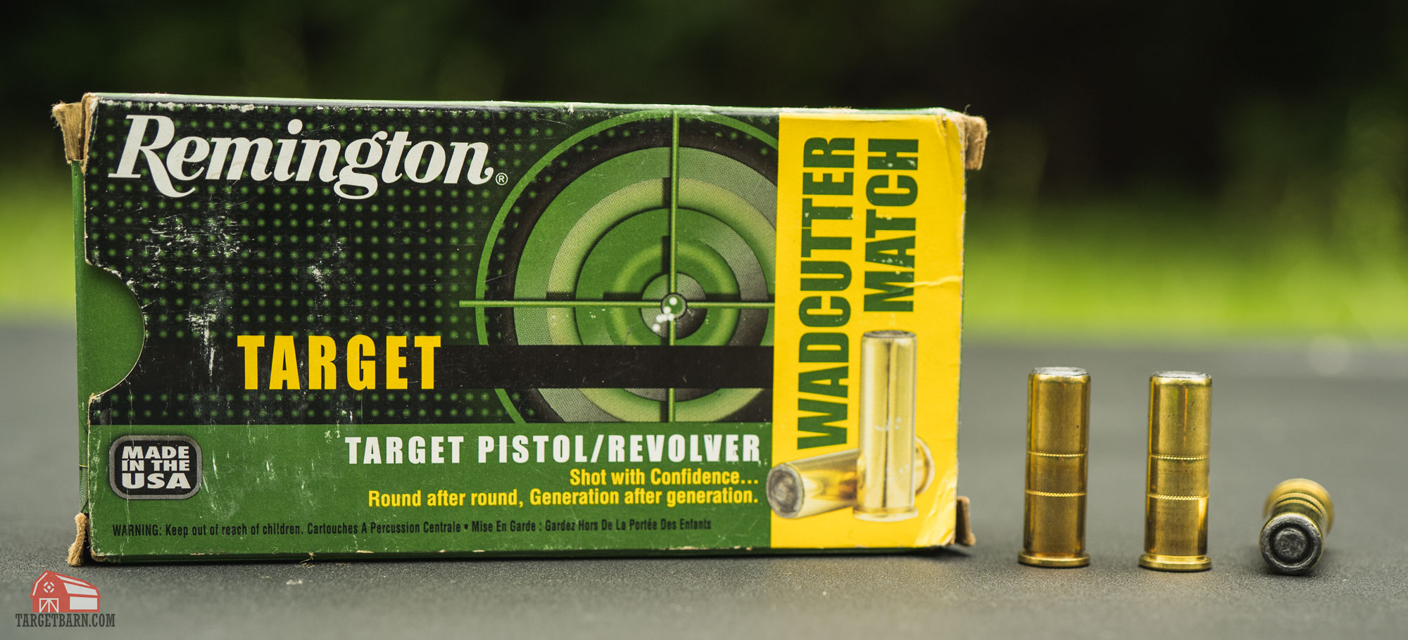 a box and rounds of .38 special 148gr. full wadcutters